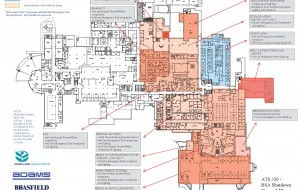 Shutdown Color-Coded Protocol Ground Floorplan Example